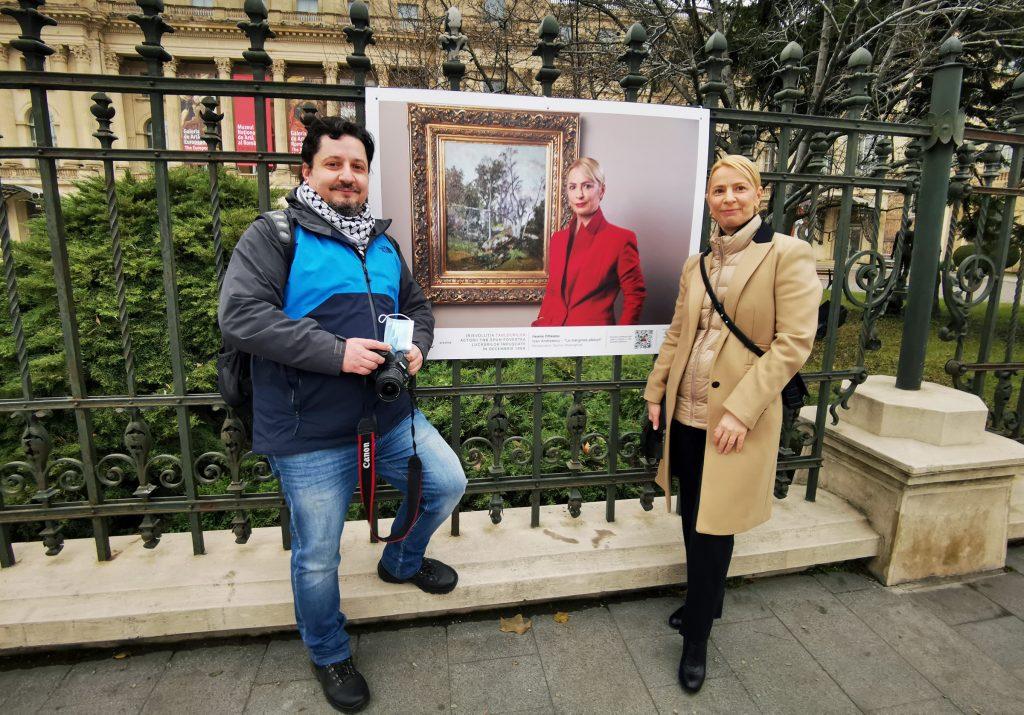 Fotograful TNB, Florin Ghioca și actrița Ileana Olteanu